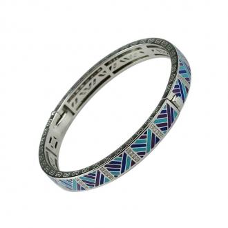 Bracelet Jonc Una Storia AZZURO argent 925/000 JO121202