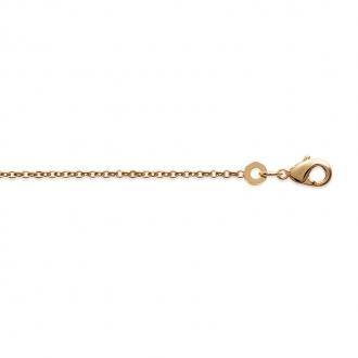 Chaine Carador maille forçat diamantée 1,2 mm en plaqué or, longueur 45 cm