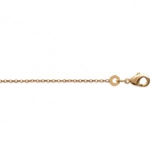 Chaine Carador maille forçat diamantée 1 mm en plaqué or, longueur 45 cm