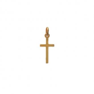 Pendentif Carador croix 20 x 10 mm en plaqué or