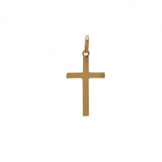Pendentif Carador croix 27 x 16 mm en plaqué or