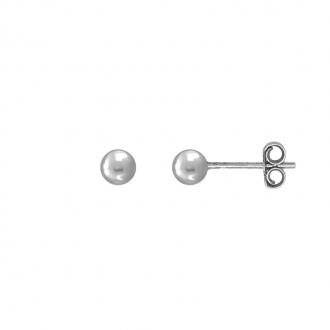Boucles d'oreilles Carador boule 4 mm en or blanc 750/000