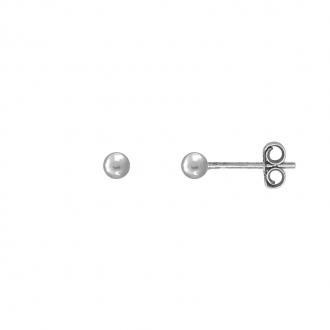 Boucles d'oreilles Carador boule 3 mm en or blanc 750/000