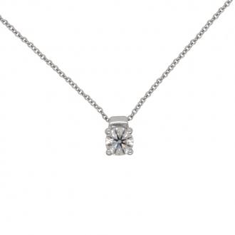Collier Femme Carador solitaire diamant 0,5 cts en or blanc 750/000