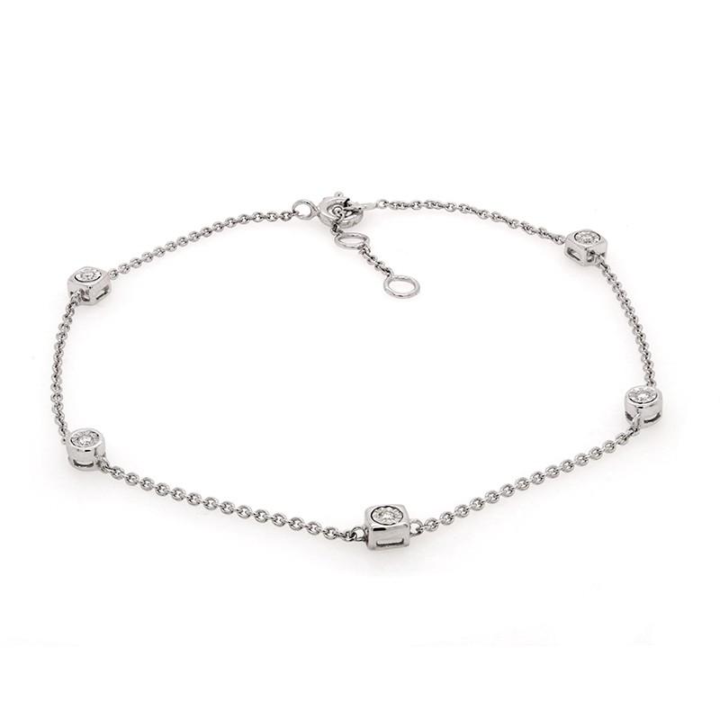 Bracelet Femme Carador diamants 0,05 cts et or blanc 750/000