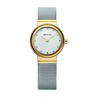 Montre Femme BERING Classic acier argenté et doré 10122-001