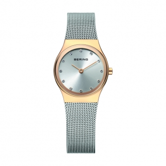 Montre Femme BERING Classic acier argenté et doré 12924-001