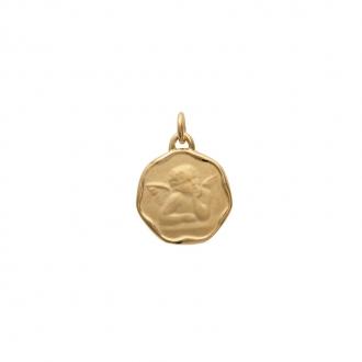 Médaille CARADOR ange Raphael en plaqué or