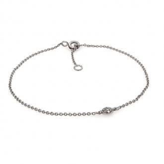 Bracelet Femme Carador pastille diamants 0,03 cts et or blanc 750/000