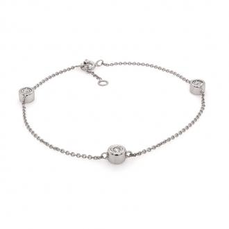 Bracelet Femme Carador diamants 0,08 cts et or blanc 750/000