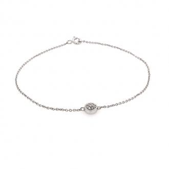 Bracelet Femme Carador cercle diamants 0,03 cts et or blanc 750/000
