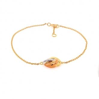 Bracelet Femme Carador fantaisie diamants 0,02 cts et or jaune, rose et blanc 750/000
