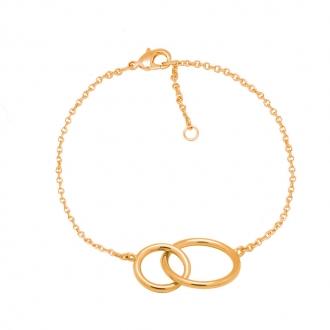 Bracelet Carador plaqué or anneaux femme