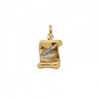 Médaille Capricorne Carador en or jaune et blanc 750/000