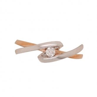 Bague en or 750/000 et diamant 0.015 carats