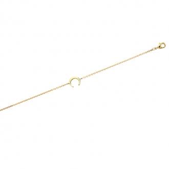 Bracelet souple Carador Lune en plaqué or
