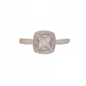Carador - Bague OR 750/000, Diamant 0.18 carats