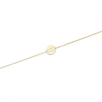 Bracelet souple Carador pastille Maman d'Amour en plaqué or