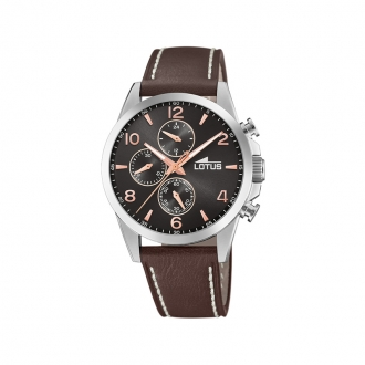 Montre Homme Lotus Chrono cuir marron 18630/3