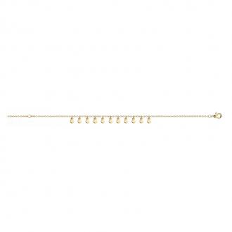 Bracelet souple Carador pampilles en plaqué or