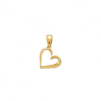 Pendentif Carador coeur en plaqué or