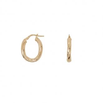 Boucles d'oreilles créoles ovales or 375/000 CARADOR