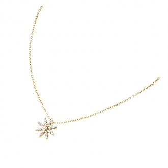 Collier Carador étoile en plaqué or et oxydes de zirconium