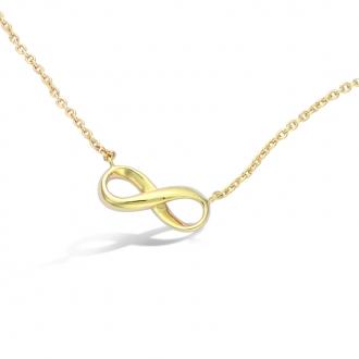 Collier Carador infini en plaqué or