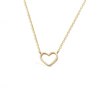 Collier Carador coeur évidé en plaqué or