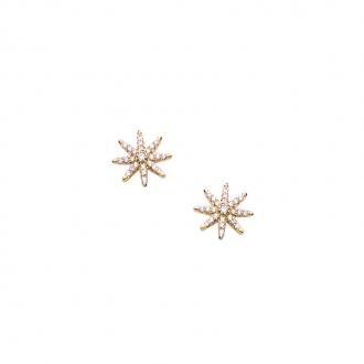 Boucles d'oreilles Carador étoile en plaqué or et oxydes de zirconium
