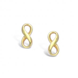 Boucles d'oreilles clous Carador motif infini en plaqué or