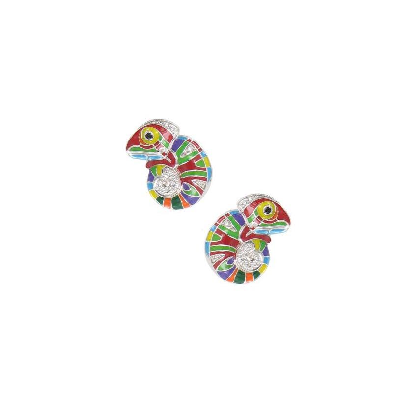 Boucles d'oreilles Una Storia Cameleon multicolore BO121180