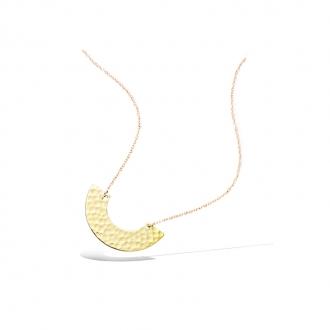 Collier femme Carador demi-cercle martelé en plaqué or