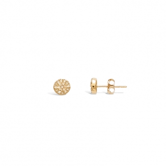 Boucles d'oreilles clous Carador motif en plaqué or et oxydes de zirconium