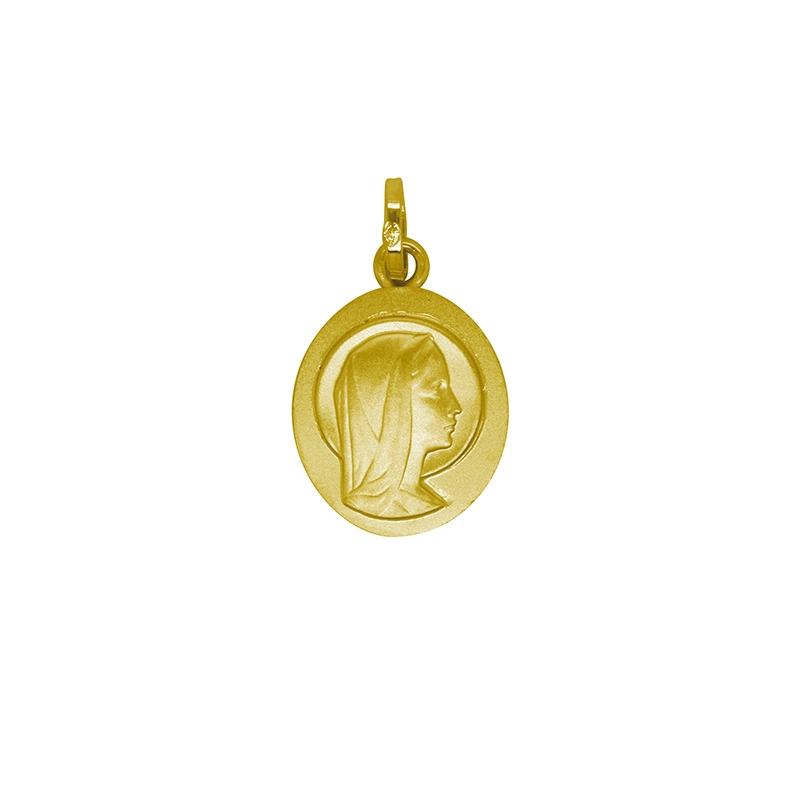 Pendentif Carador vierge Marie or jaune 375/000
