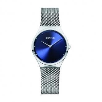 Montre Femme BERING Classic acier argenté et cadran bleu 12131-008