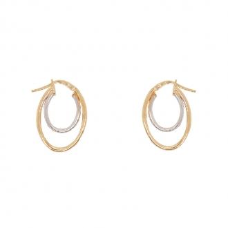 Boucles d'oreilles bicolores en or 375/000 CARADOR