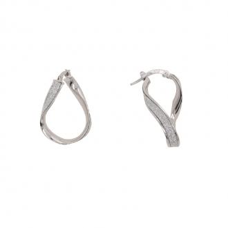 Boucles d'oreilles pendantes or 375/000 glitter