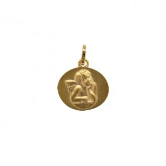 Pendentif médaille ange or 375/000 CARADOR