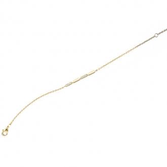 Bracelet Femme Carador motif barrette plaqué or et oxydes de zirconium