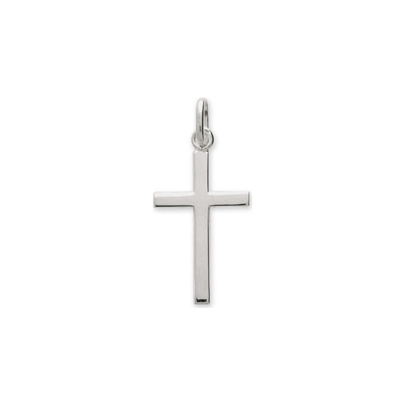 Pendentif Carador Croix fil carré en argent 925/000