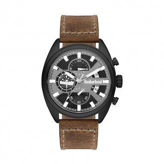 Montre multifonction Timberland Seabrook cuir marron 15640JLB/61