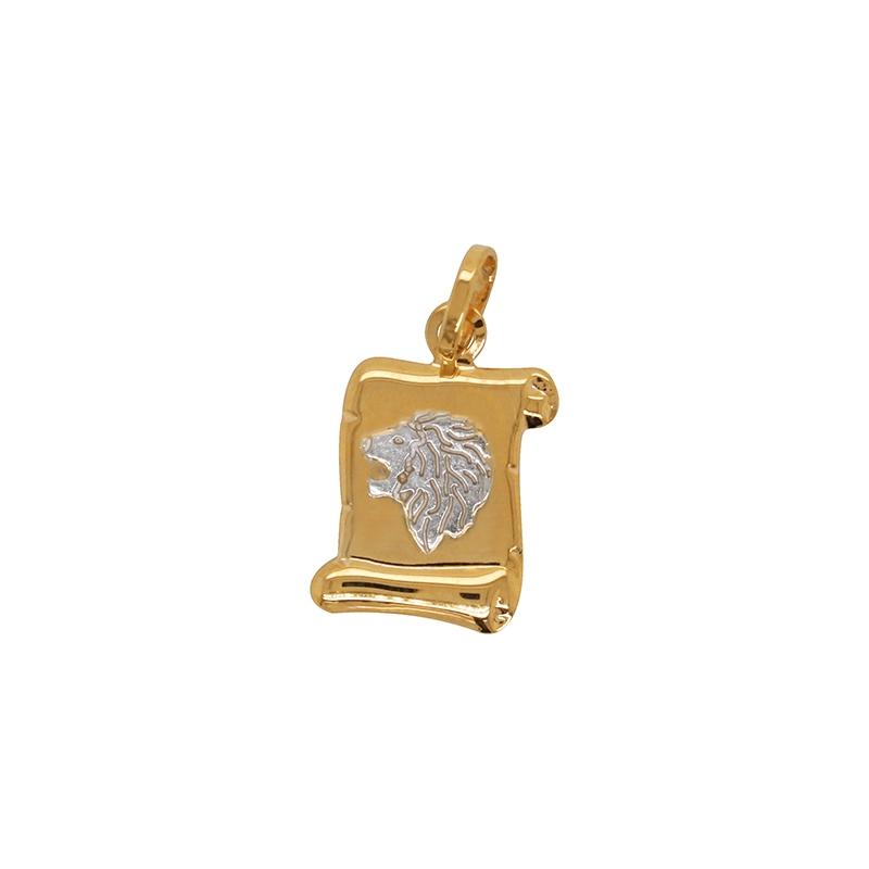 Médaille Carador parchemin Lion or bicolore 750/000