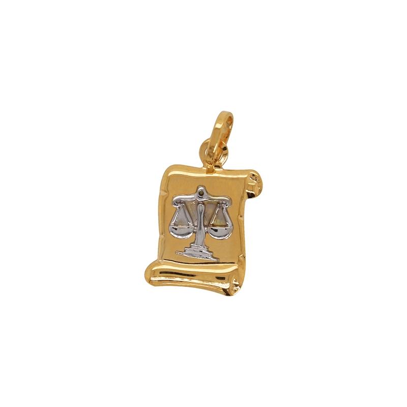 Médaille Carador parchemin Balance or bicolore 750/000