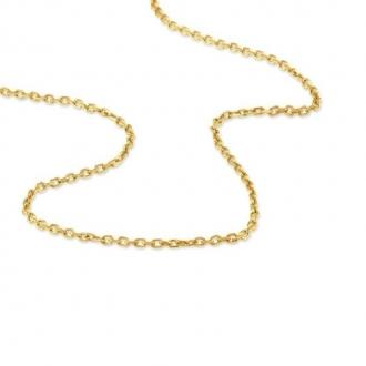 Chaîne en or 750/000 en maille forçat de chez CARADOR 50 cm