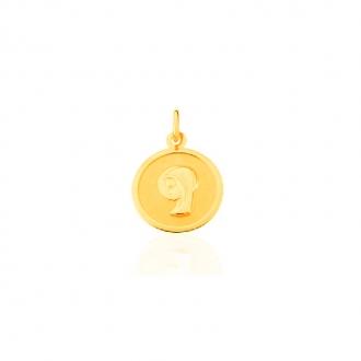 Pendentif Carador vierge or jaune 375/000