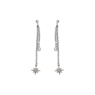 Boucles d'oreilles Constellation de Silver Pop en argent 925/000 et oxyde de zirconium