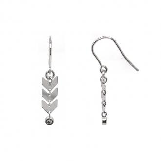 Boucles d'oreilles Silver Pop flèches argent 925/000 et oxyde de zirconium