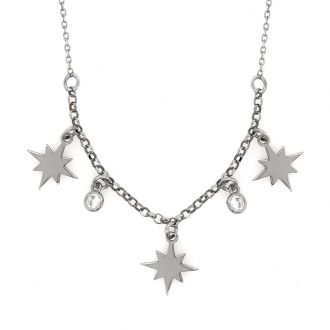 Collier Constellation Silver Pop en argent 925/000 et oxydes de zirconium