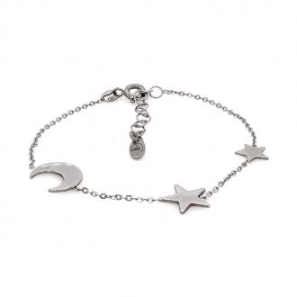 Bracelet Constellation Silver Pop lune et étoiles en argent 925/000